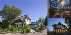 Duży dom z ogrodem zimowym Hosting, Dom, Cabin, House Styles, Home Decor, Decoration Home, Room Decor, Cabins, Cottage