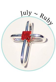 "Compelling Creations, Inc. - The red ruby is the birthstone crystal for July.    Celebrate a baptism, birthday, confirmation, first communion, or buy your favorite colors to match different outfits. 3/4"" long.       Available in the  Share It! rhodium plated line."