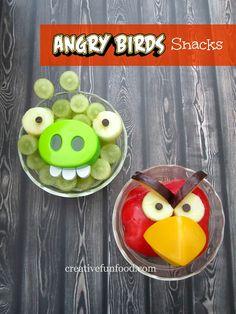 Fun and Easy Angry Birds Healthy Snacks | creativefunfood.com