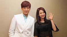 Korean drama Emergency Couple stars Song Ji Hyo and Choi Jin Hyuk dish relationship advice in Singapore. http://www.straitstimes.com/lifestyle/ Photo: Edward Teo for The Straits Times