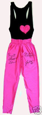 WWE HART FOUNDATION TIGHTS HAND SIGNED AUTOGRAPHED WITH EXACT PROOF AND COA