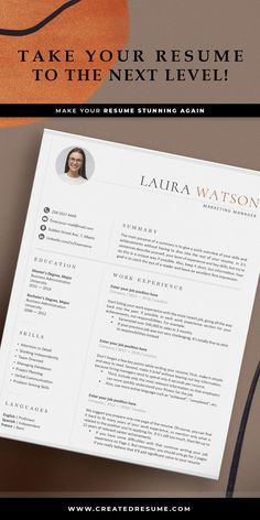 Modern and professional resume template that will help to get the job of your dreams faster! Easy to customize on Word and Apple Pages. Designed by an experienced CreatedResume team these resume templates will catch an eye and help you outstand from the others. #resume #resumetemplate #modernresume #resumeformat #resumedesign #resumetips #createdresume #cv #cvtemplate Cover Letter Template, Letter Templates, Resume Templates, Basic Resume, Professional Resume, Modern Cv Template, Curriculum Vitae Template, Microsoft Word 2007, Good Resume Examples