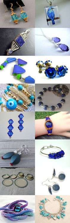 Blue Jewels by Hari on Etsy--Pinned with TreasuryPin.com