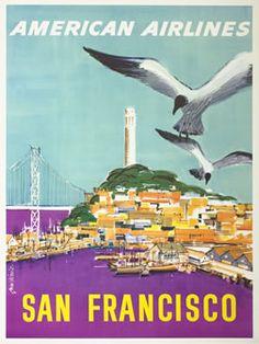 Fernie, John  San Francisco - American Airlines, 1950 ca.