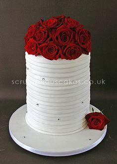 Tall Column Wedding Cake