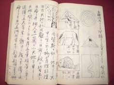 Antique Japanese Calligraphy Book.