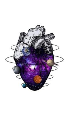 Heart and ideas human heart tattoo, anatomical heart drawing, muhammed salah, body art Anatomical Heart Drawing, Art Sketches, Art Drawings, Art Hipster, Herz Tattoo, Tattoo Art, Galaxy Painting, Medical Art, Heart Art