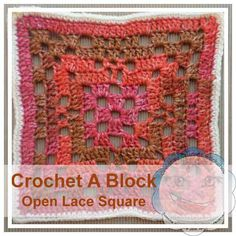 Free crochet pattern: Open Lace Granny Square (Crochet A Block CAL) by Creative Crochet Workshop