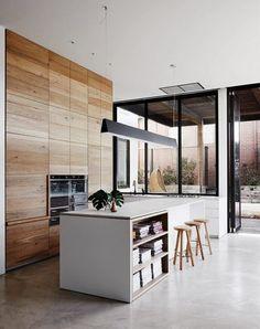 Warm Minimalist Home Dreams minimalist living room minimalism interiors.Minimalist Bedroom Wardrobe Beds minimalist home interior kitchen.Minimalist Home Office Workspaces. Interior Exterior, Kitchen Interior, Interior Architecture, Interior Modern, Room Interior, Apartment Interior, Interior Paint, Interior Styling, Modern Decor