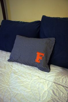 Florida Gator Throw Pillow in Blue Cotton with White by GatorMade, $30.00