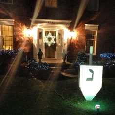 We love these Hanukkah decorations! The dreidel has finally landed!