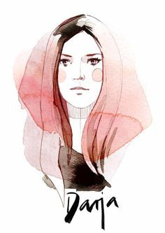 Portrait illustrations for myself.de by Ekaterina Koroleva, via Behance