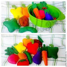 Купить Игрушки для детей - игрушки ручной работы, игрушки из фетра, фетровые игрушки, овощи из фетра