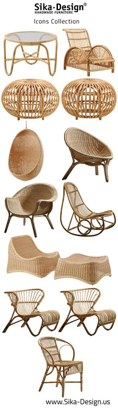 Sika Design Icons Collection featuring pieces from Nanna Ditzel, Franco Albini, Boesen, Wengler and Jacobsen.