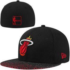 Miami Heat New Era Hardwood Classics Crackle Vize Fitted Hat – Black