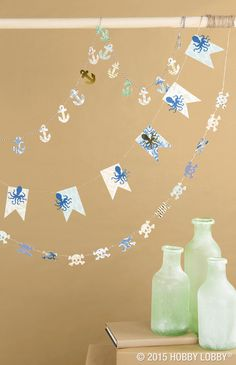 Make any space a happy place with easy-to-craft paper garlands. More ideas ahead!