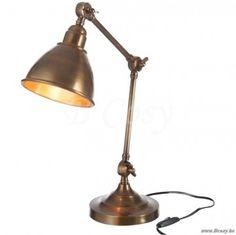 J-Line Verstelbare bronzen retro bureaulamp aluminium bronskleur ø15