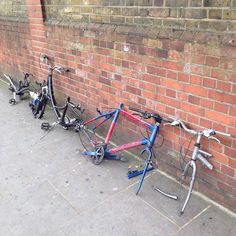 Local thieves saw up bikes to steal a few components. Welcome to London! Sights and scenes from a writer's life