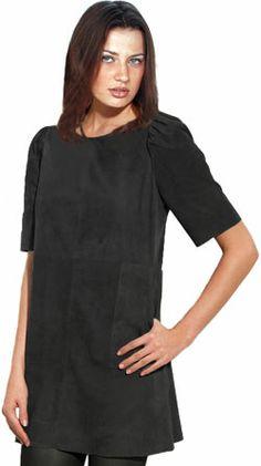 Mega luxurious tunic leather dress for women