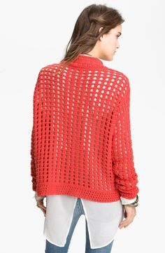 Free shipping and returns on Free People Basket Weave Sweater at Nordstrom.com. An oversized center cable and a curling, ribbed collar center the airy, open basket-weave knit of a boxy sweater.