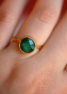emerald ring etsy.com