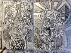 Amazing sketchbook doodling