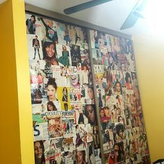 I created this magazine wallpaper collage 2 year ago it time for a change. I'm more mature now and my room needs to reflect that