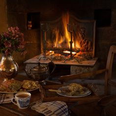 Here a childhood scene at gloomy Lowood School, when Jane Eyre and Helen Burns… Jane Eyre, Charlotte Brontë, Autumn Cozy, Cozy Winter, Winter Night, Autumn Scenes, Night Aesthetic, Winter Magic, Cozy Fireplace