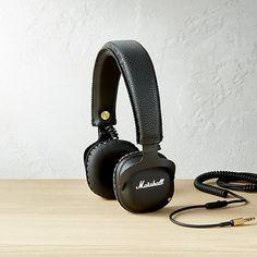 marshall mid bluetooth black headphones CB2