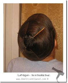 Instructions for a doobie wrap to straighten or maintain el doobie hair wrap wrapping your hair in sections around the entire crown hold with large bobby pinssulting in beautiful full hair effect pmusecretfo Images