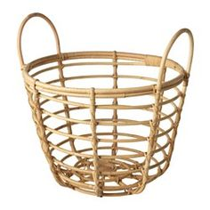IKEA - JASSA, Basket with handles, Handmade by skilled craftspeople, which makes every product unique.