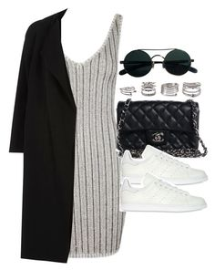 """""""Style #11760"""" by vany-alvarado ❤ liked on Polyvore featuring Topshop, River Island, Chanel, adidas Originals and Forever 21"""