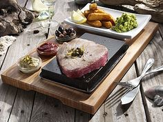 How delicious does this look?! The SteakStones Sizzling Steak Set