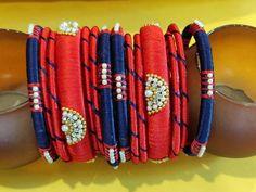 Silk Thread Bangles Design, Silk Thread Earrings, Thread Bracelets, Thread Jewellery, Bangles Making, Simple Embroidery, Colorful Bracelets, Romantic Questions, Handmade Jewelry