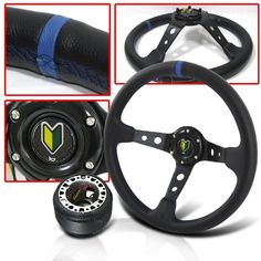 1995 ACURA HONDA INTEGRA DRAG RACE STEERING WHEEL WITH HUB ADAPTER THIS ITEM IS FOR 92-95 Honda Civic/ All Honda Del Sol/ 94-01 Acura Integra/ 92-96 Honda Prelude / AND 90-93 Honda Accord. Dimension For This Steering Wheel is 350mm. Use With Any 6 Bolt Hub Adapter. 100% BRAND NEW IN BOX. Made Of High Quality Aluminum. Improves Grip, Handling and Control.. THIS LISTING IS INCLUDED steering wheel, H... #JDM_Sport #Automotive_Parts_and_Accessories