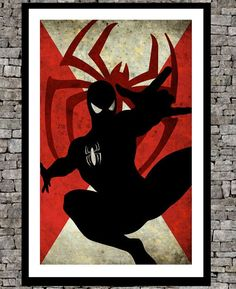 Spiderman - Original art illustration super hero retro movie poster ...