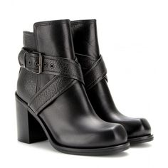 McQ Alexander McQueen Nazrul Leather Ankle Boots ($675) ❤ liked on Polyvore
