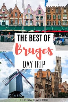 Travel Bruges Belgium with this Bruges day trip guide. My one day in Bruges walking tour covers all the city's pretty places, from the old market where they hold the Bruges Christmas market, to the Bruges windmills. Includes a free Bruges itinerary map to guide you to the top Bruges photography spots and must see places. | Bruges 1 day itinerary | Bruges Belgium travel guide | Bruges travel tips | Day trips from Brussels | Bruges canal tour | Belgium travel destinations | #bruges #europetravel