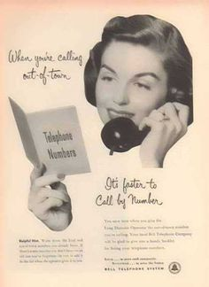 Bell Telephone System – It's faster to call be Number (1952)