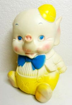 Vintage 1961 Edward Mobley Rubber Elephant Squeak Toy | Flickr - Photo Sharing!