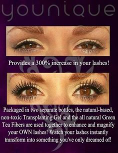 The BEST mascara EVER!! Boost your natural lashes by up to 300% using Younique's #3D Fiber Lash mascara!  https://www.youniqueproducts.com/Amy