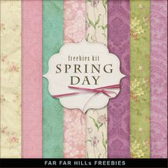 Far Far Hill: New Freebies Papers Kit - Spring Day