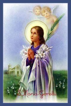 Holy Cards For Your Inspiration Religious People, Religious Images, Religious Art, Catholic Saints, Roman Catholic, Santa Maria, St Maria Goretti, Litany Of The Saints, Statues