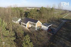 House H5 in Skierniewice, Poland #architecture #design #modernarchitecture #dreamhome #home #house #passivehouse #energysavinghouse  #modernhome #modernhouse #moderndesign #homedesign #modularhouse #homesweethome #scandinavian #scandinaviandesign #lifestyle #forest #dron #nature #ecoreadyhouse #erh