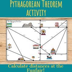 Pythagorean Theorem Activity Middle School, High School, Critical Thinking Activities, Pythagorean Theorem, Secondary Math, Science Resources, Math Teacher, Upper Elementary, Success