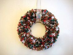 One of the best gifts I ever got was a fabric scrap wreath from @Sherreta Lane -- mine's prettier than this :P