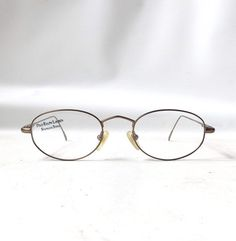 ed3c3b7a4a vintage 1990 s NOS ralph lauren polo eyewear eyeglasses antique gold metal  wire frames prescription italy womens mens retro eye glasses oval