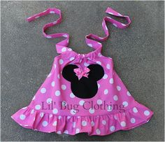 *Custom Boutique Light Pink Minnie Mouse Halter Swing Top.  *Available in sizes 12 18 24 2t 3t 4t 5t 6 7 8 9/10.  *Looks adorable with jeans or