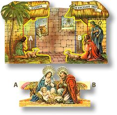 Christmas Decoupage, Christmas Paper, Vintage Christmas Cards, All Things Christmas, Diy Nativity, Christmas Nativity Scene, Nativity Scenes, Christmas Projects, Christmas Crafts