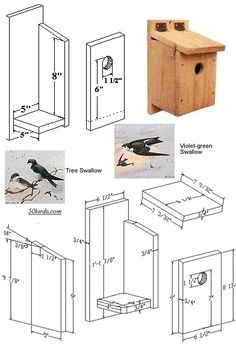 Bird House Plans 513973376219584909 - Swallow Bird House-we have plenty of these guys around Source by Homemade Bird Houses, Bird Houses Diy, Bird House Plans, Bird House Kits, Bird House Feeder, Bird Feeders, Bluebird House, Birdhouse Designs, Swallow Bird